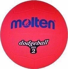DB2-R Piłka gumowa Molten dodgeball size 2
