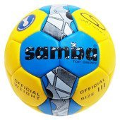 Piłka ręczna Smj Sport Samba Top Grippy IHF 3 - yellow/blue