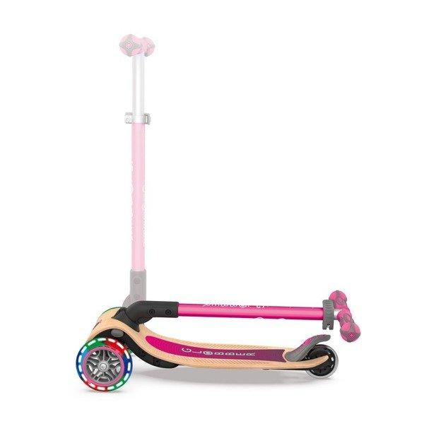 Hulajnoga 3-kołowa Globber Primo Foldable Wood Lights 436-110 pink