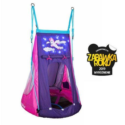 Huśtawka gniazdo z namiotem Hudora Pony LED
